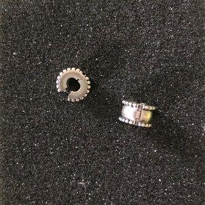 Pandora Silver Beveled Clip